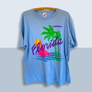🍋 Vintage FLORIDA Souvenir T-Shirt Ft. Walton 80s